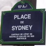 Sydney arrondismont street sign