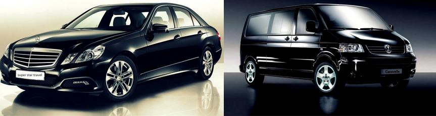 Van and Car