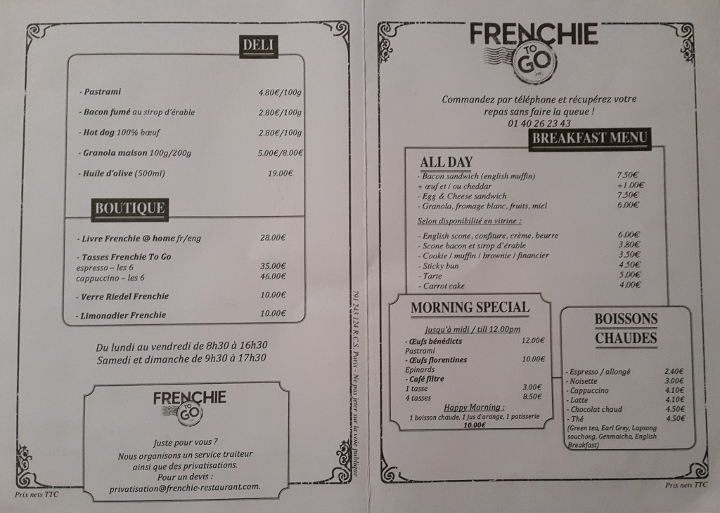 frenchie to go menu 2
