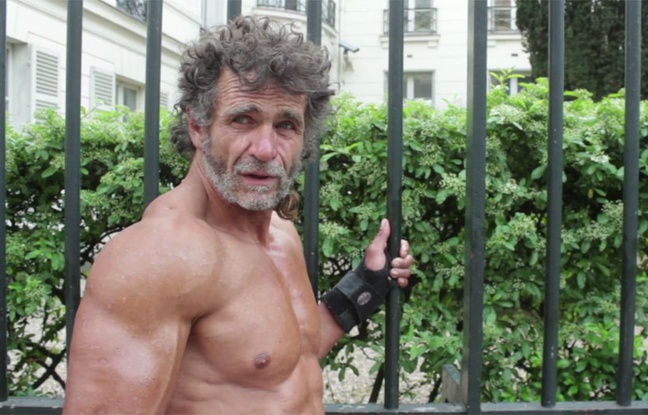 homeless paris bodybuilder