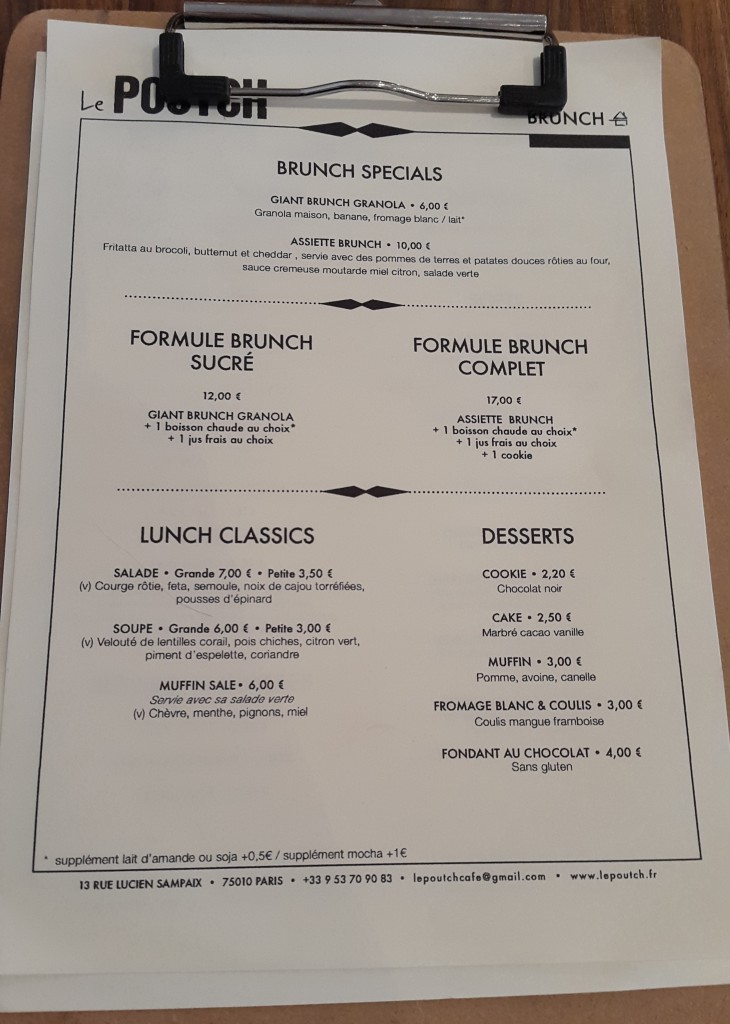 le poutch cafe menu